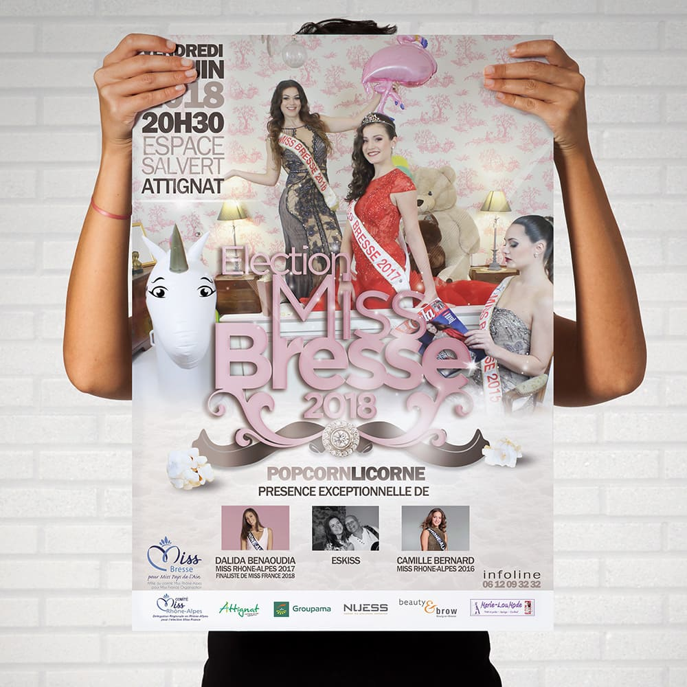 affiche election miss bresse bourg en bresse creation