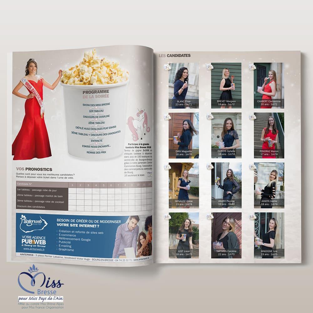 Création programme élection Miss Bresse Bourg-en-Bresse
